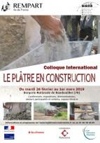 """Colloque """"Le plâtre en construction"""" - Rambouillet (78)"""