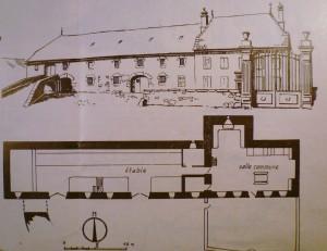 Type de maison de la Planèze de Saint-Flour, selon P. Moreau, 1975.
