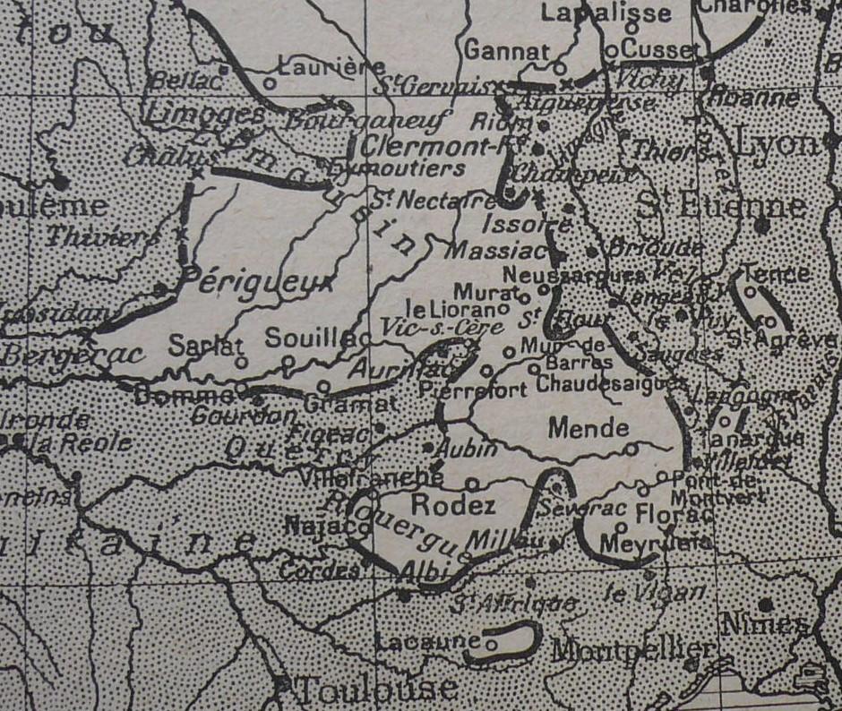 Carte des Toits, détail