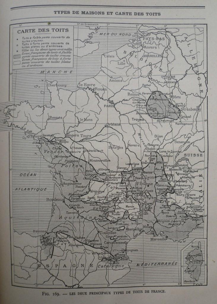 Carte des Toits;  J. Brunhes.