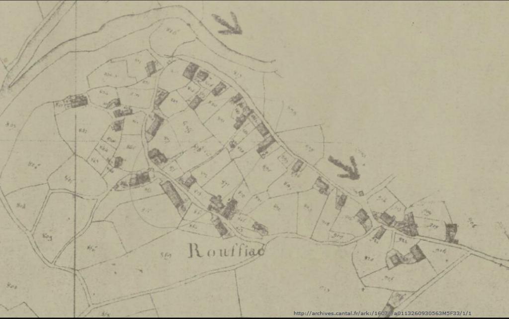 "Cadastre napoléonien du village ""circulaire"" de Rouffiac (Saint-Simon)"
