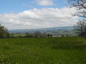 Vallée de la Truyère et montagne de la Margeride, vues des environs de Garabit.